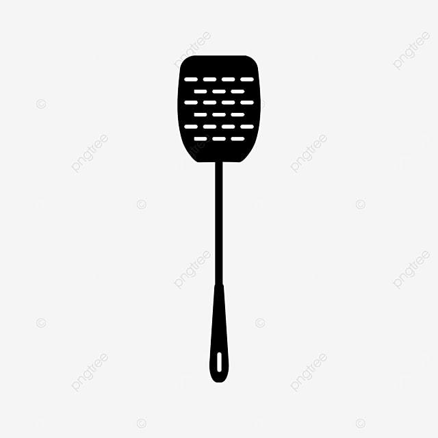black spatula kitchenware spatula clipart