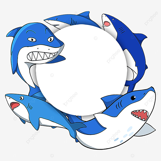 blue marine life border