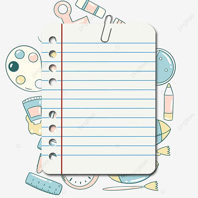 blue stationery notebook border