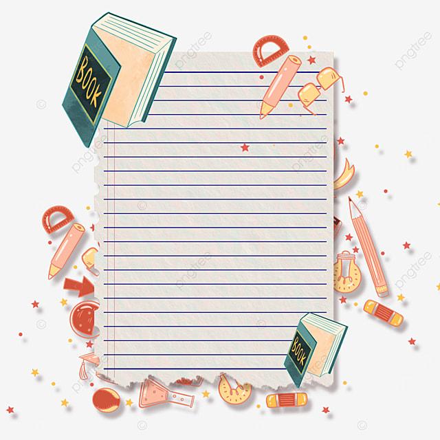 book stationery notebook border