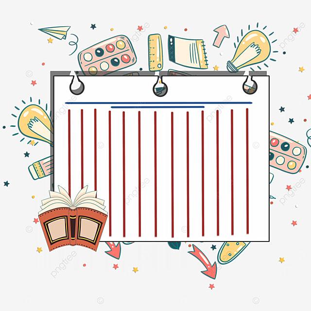 books stationery notebook border