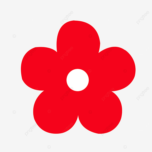 bright red flower clipart