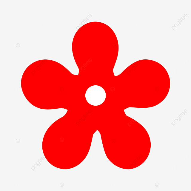 bright red small flower flower clipart