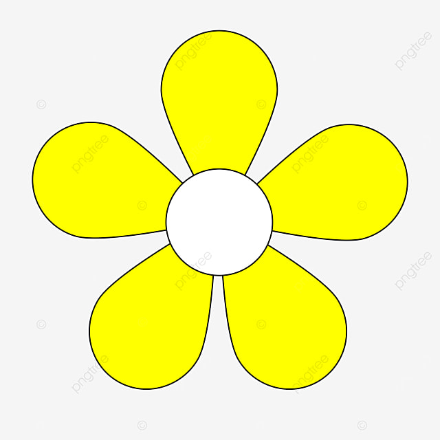 bright yellow blossom flower clipart