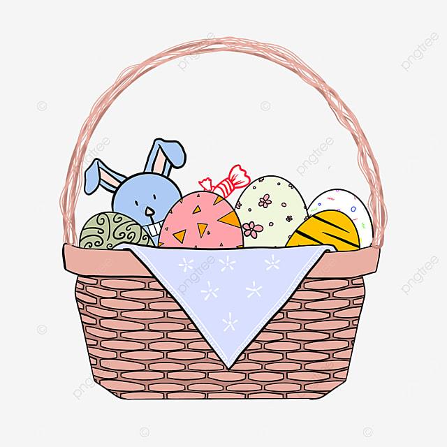 bunny tablecloth easter basket clip art