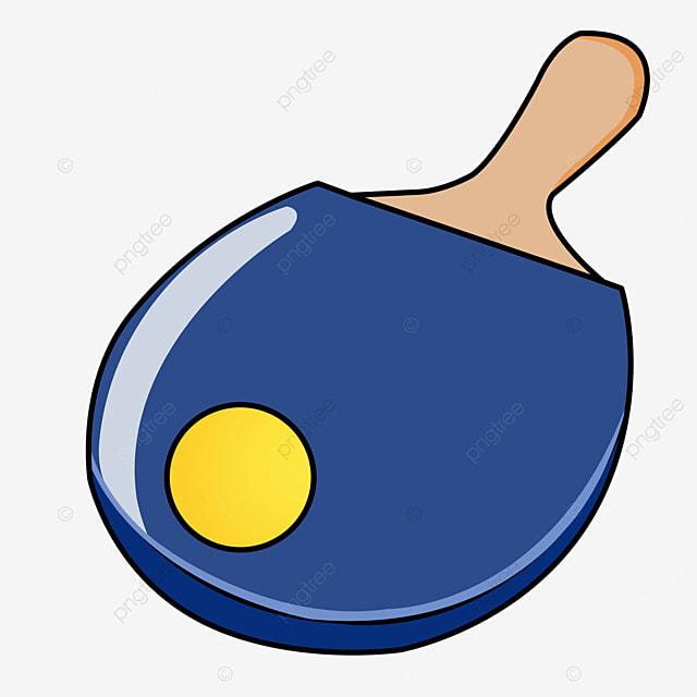 cartoon blue table tennis clipart