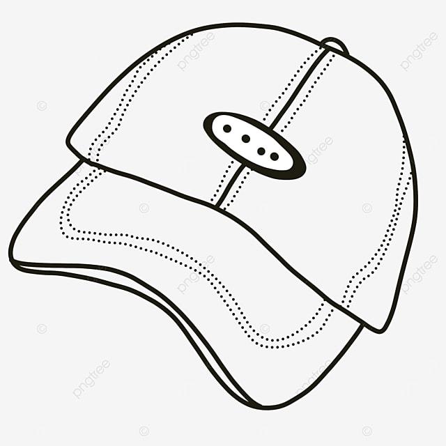 casual cap baseball cap hat clipart black and white