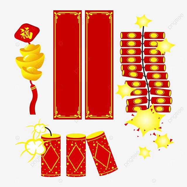 celebrating the spring festival couplet firecracker combination