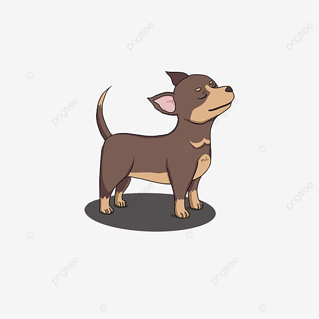 chihuahua standing with eyes closed clipart