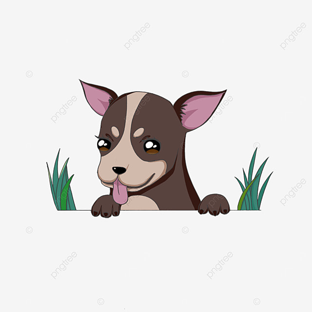 chihuahua sticking his head out clipart