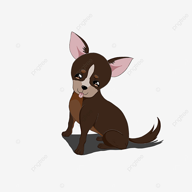 chihuahua sticking out tongue clipart