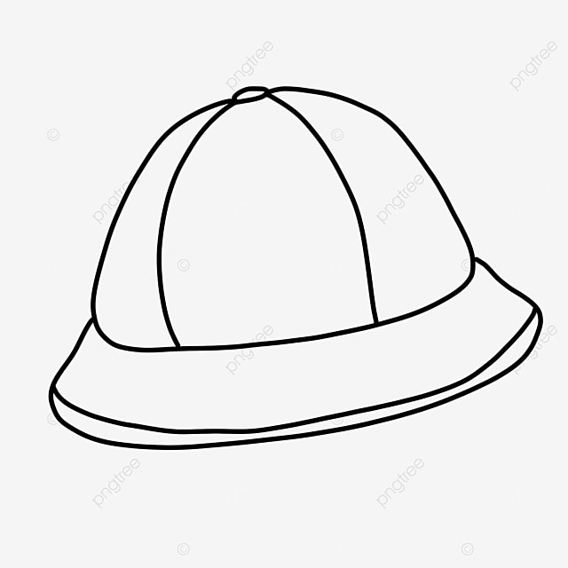 child protection hat clipart black and white