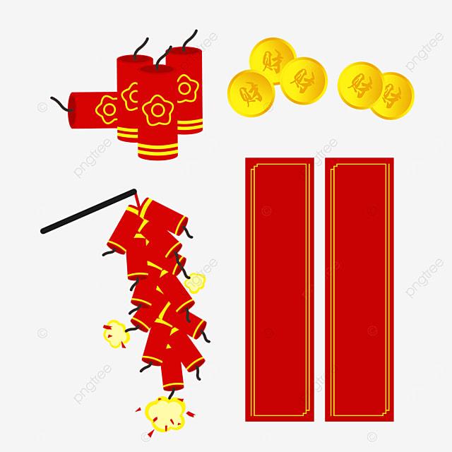 copper coin spring festival couplet firecracker combination