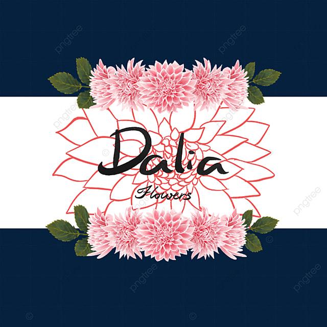 dahlia border leaf print