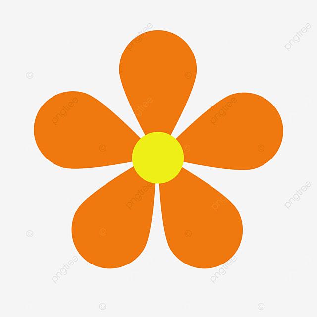 dark orange flower clip art