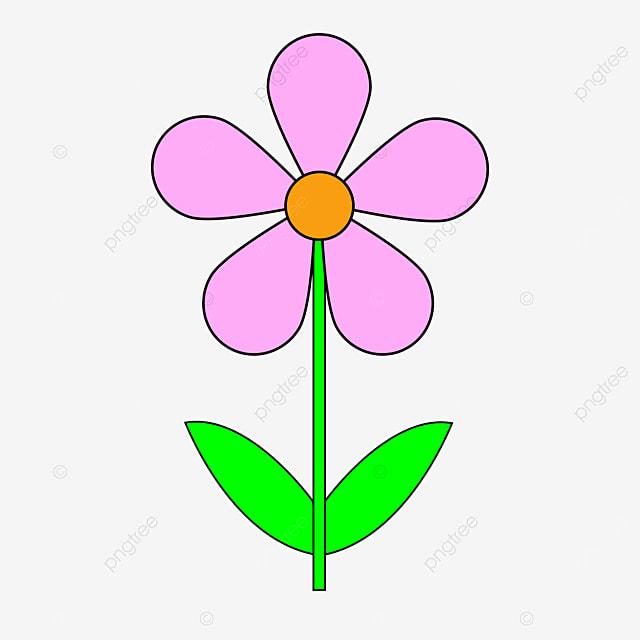 dark pink floret flower clipart