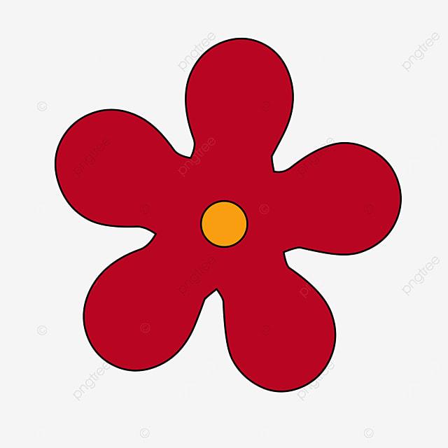dark red yellow pistil flower flower clipart