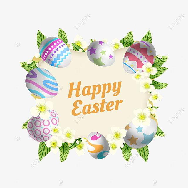 easter egg carnival holiday border