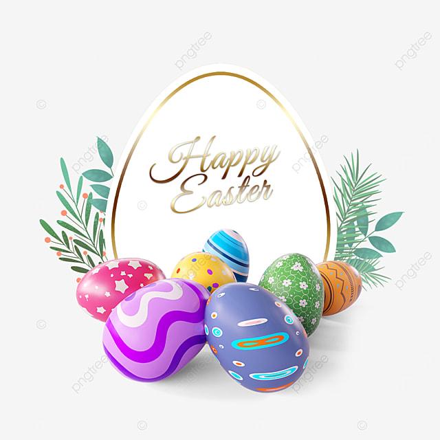 easter egg holiday border