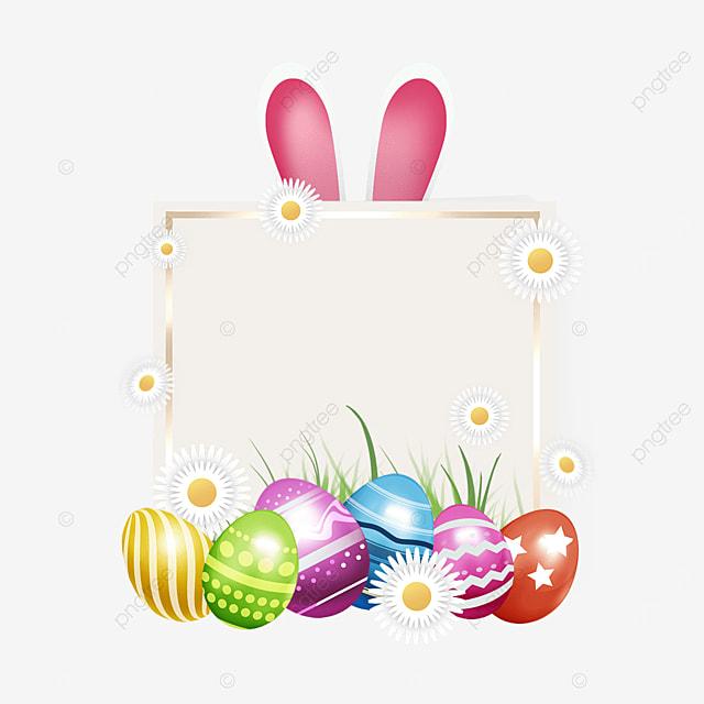 easter egg holiday rabbit ears border