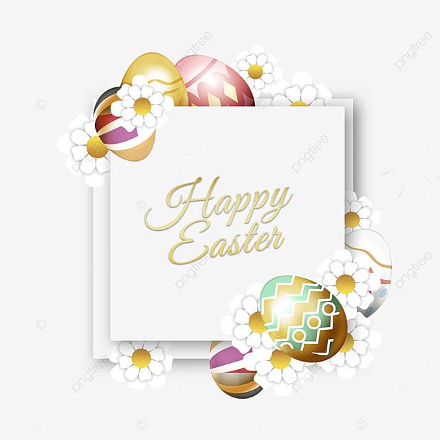 easter egg holiday square border