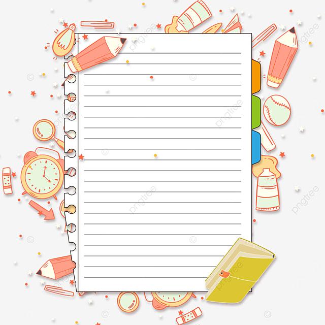 education stationery notebook border
