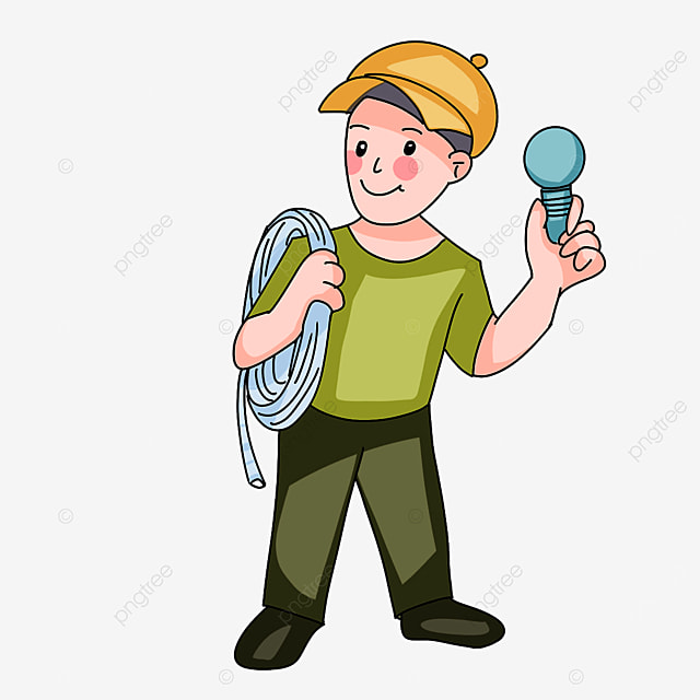 electrician backing wires clipart