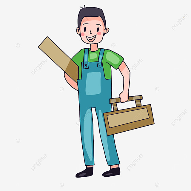 electrician in green clipart