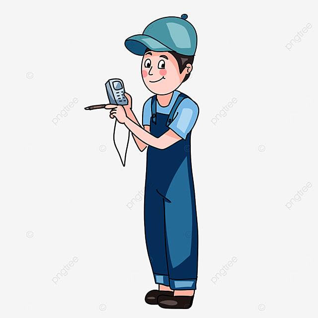 electrician testing electricity clipart
