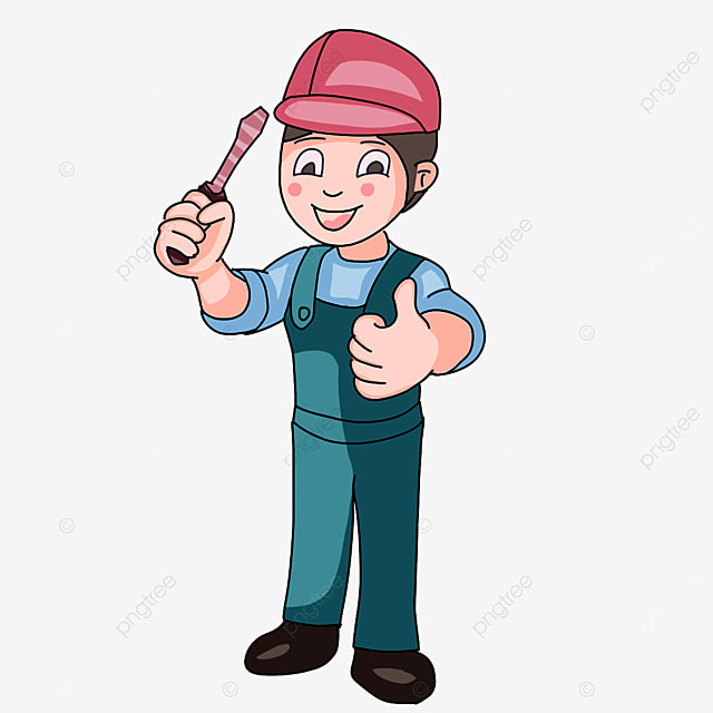 electrician with thumbs up clipart
