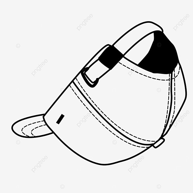 fashion peaked cap dress hat clipart black and white