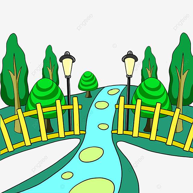 fence grass park clipart