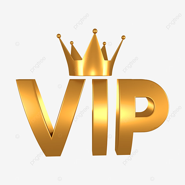 gold 3d crown vip
