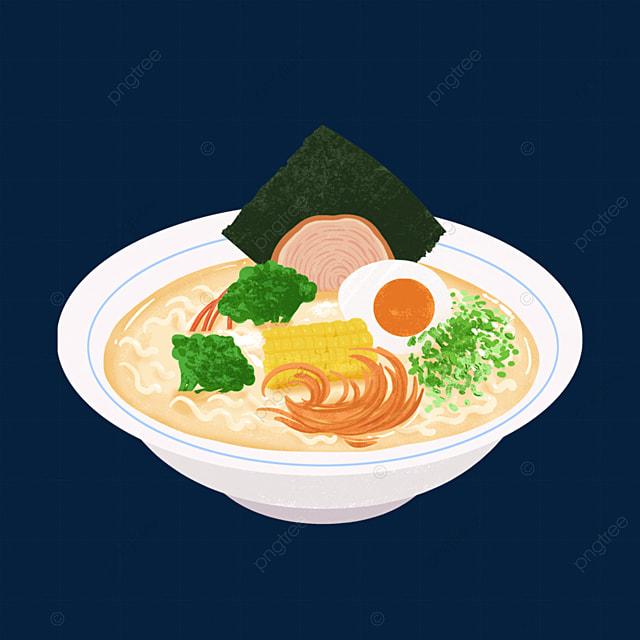 golden corn egg ramen clip art
