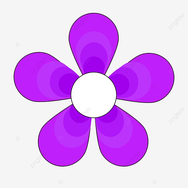 gradient purple flower flower clipart