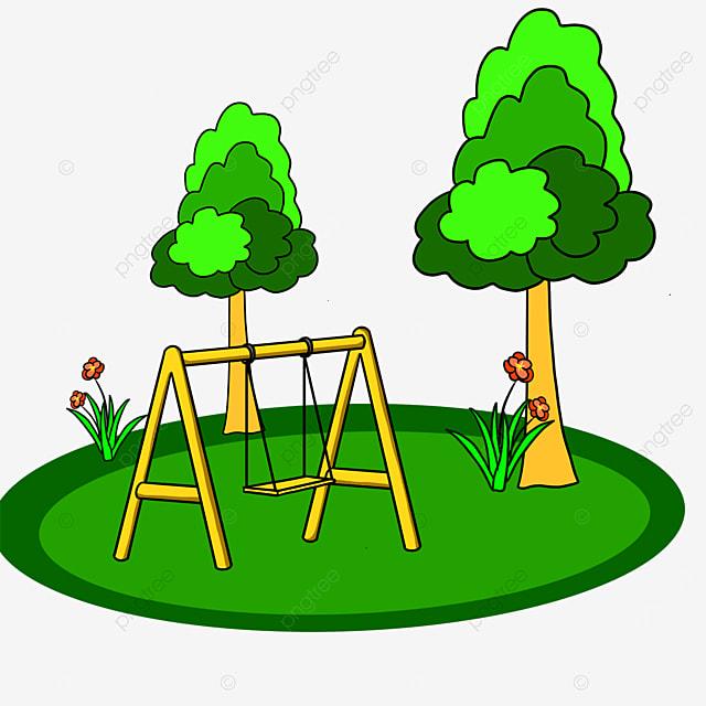 grass swing park clip art