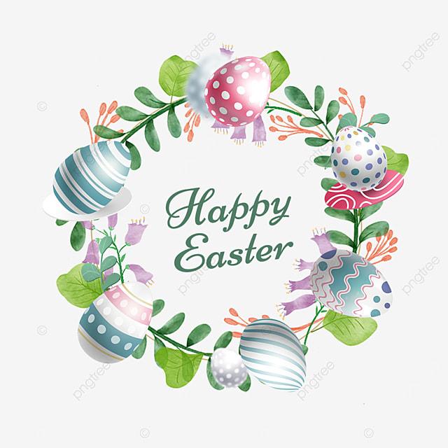 green easter egg holiday border