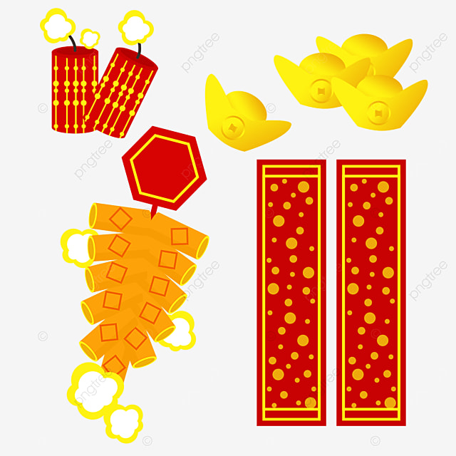 happy chinese new year couplet firecracker combination