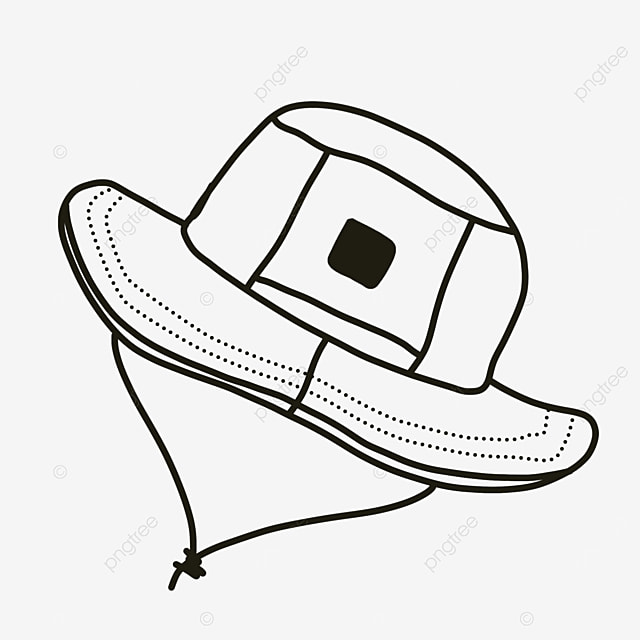 head dress hat clipart black and white