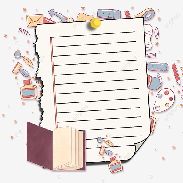 learning books stationery notebook border