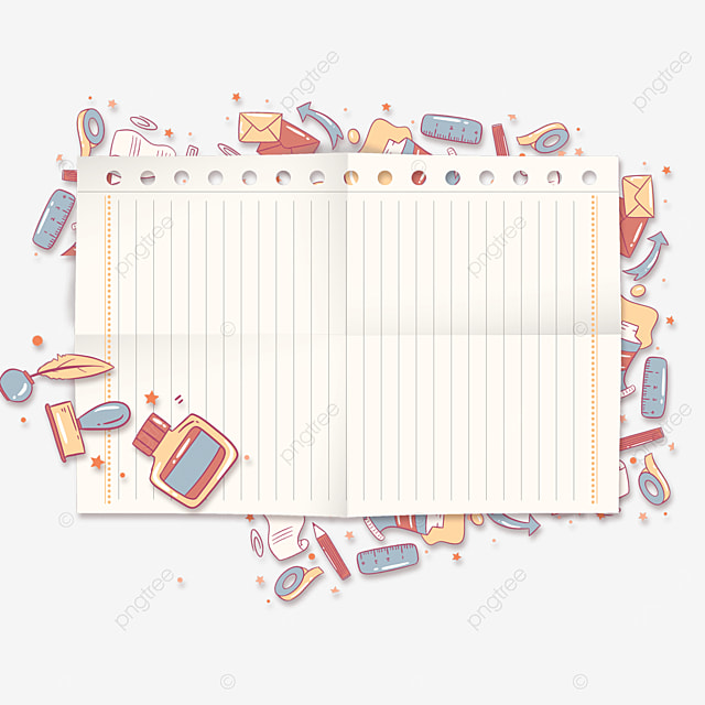learning ink stationery notebook border