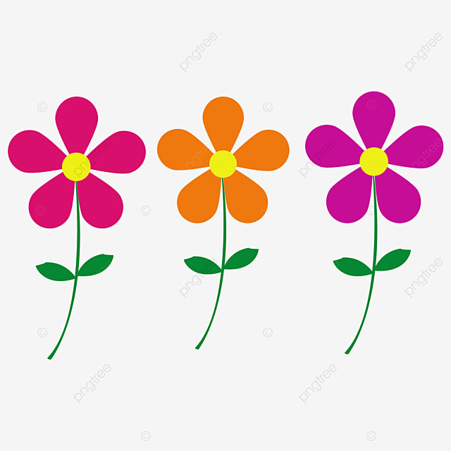 multicolor pink yellow purple flower clipart
