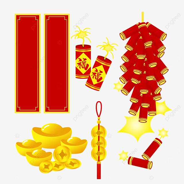 new year spring festival couplet firecracker combination