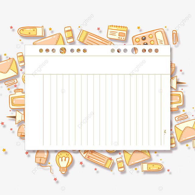 notebook border stationery education