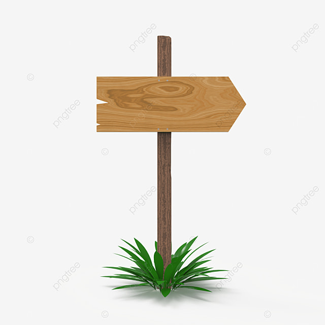 one way direction wooden sign post