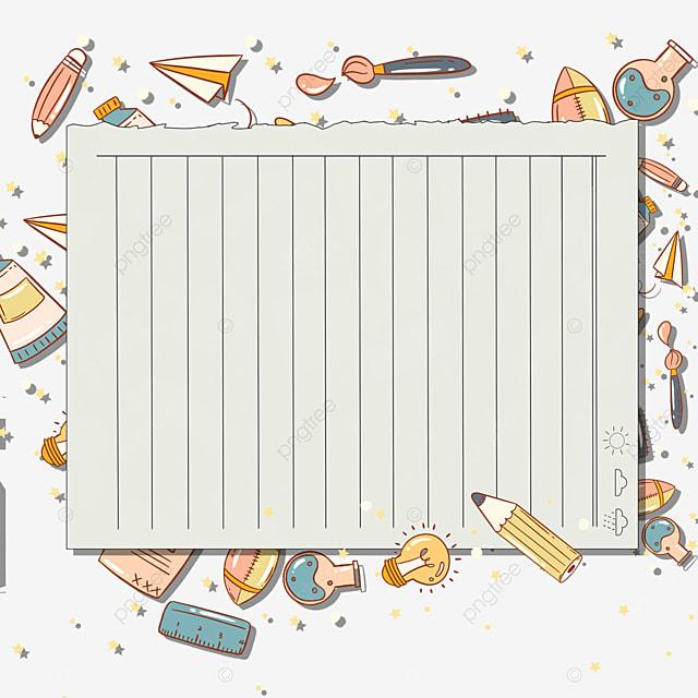 pencil stationery notebook border