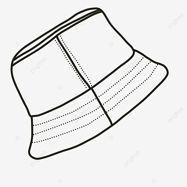 protective cover casual hat collocation clipart black and white