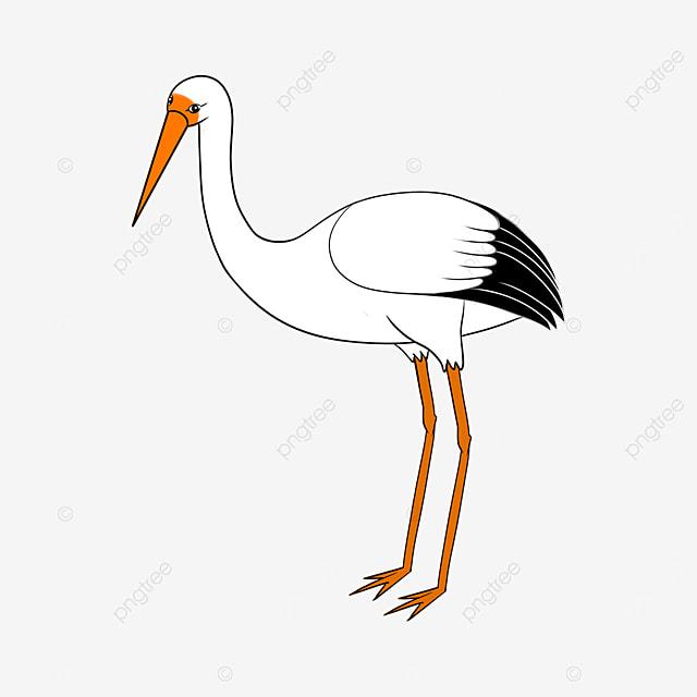 pure white stork clip art