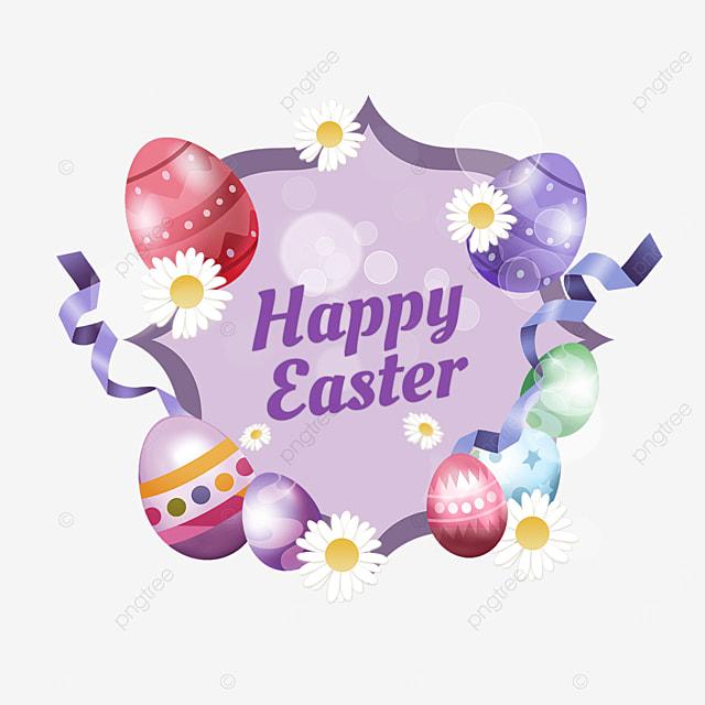 purple easter egg holiday border