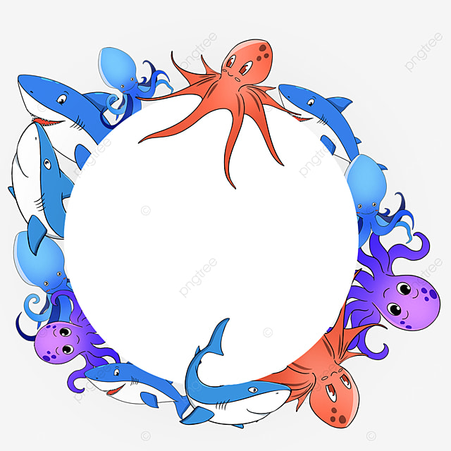 purple marine life border
